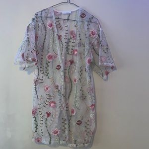 GLANCE Floral Cardigan